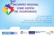 3er Encuentro Regional sobre gestión de Voluntariado 2017.